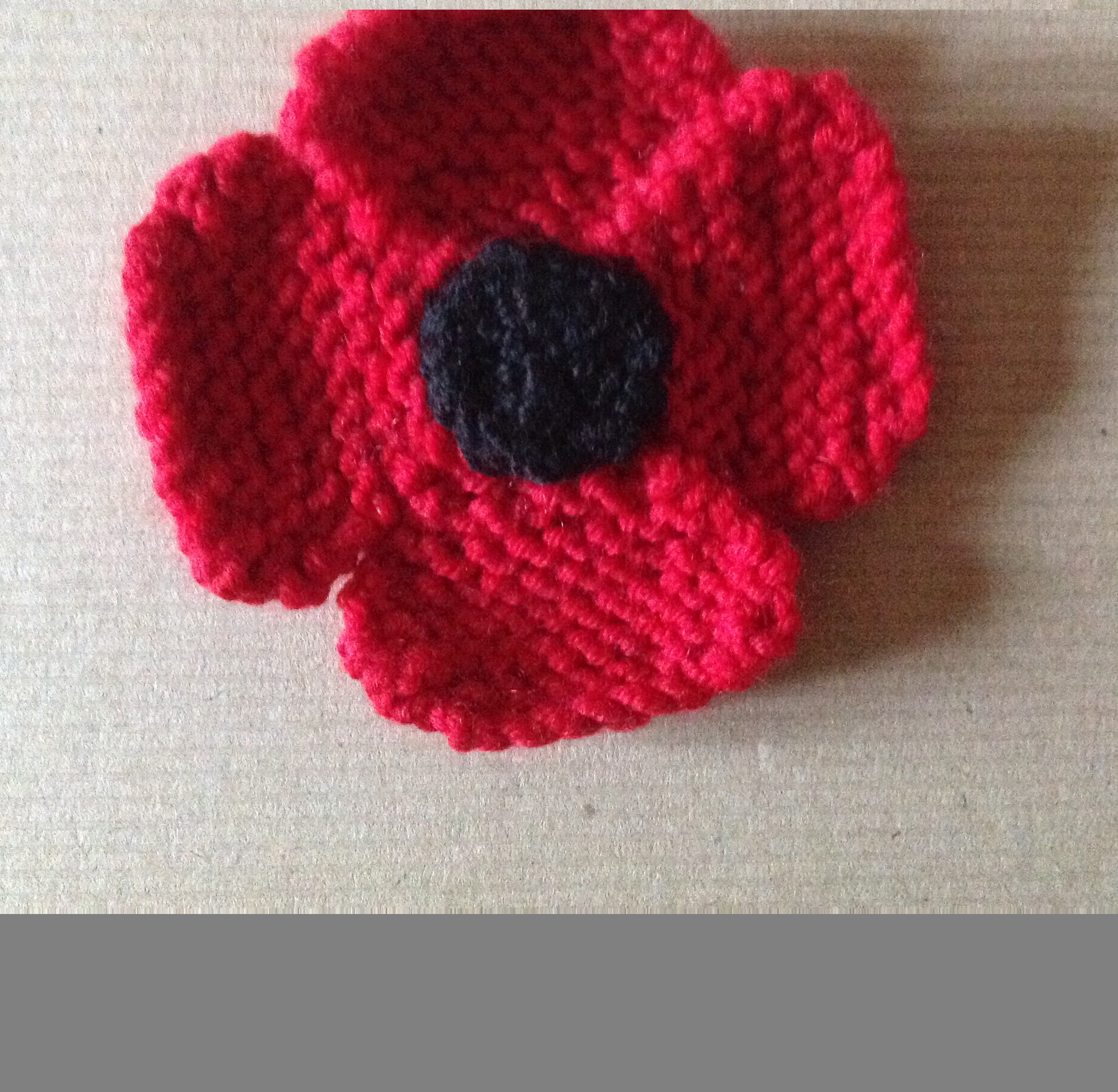 October monthly project knitted remembrance poppy mightylinksfo